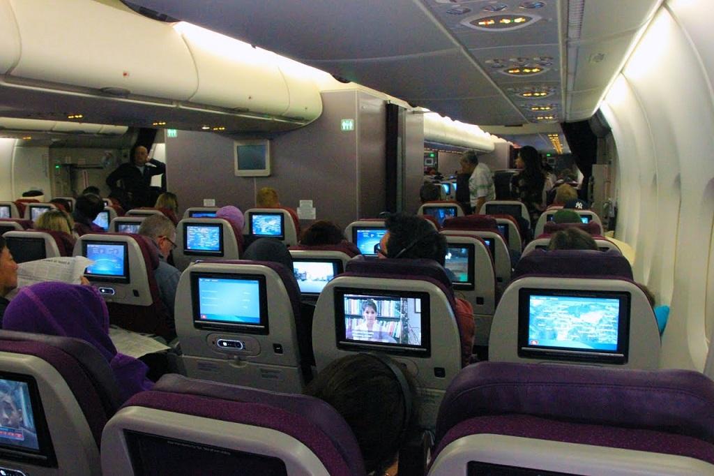 Kabin di salah satu pesawat Malaysia Airlines