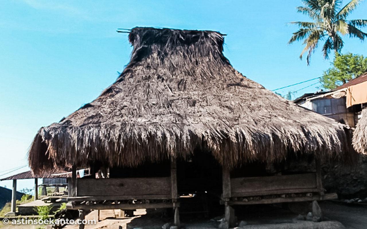Rumah adat di Moni Flores