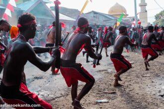 Tradisi Abdeu saat Hari Raya Idul Adha di Tulehu
