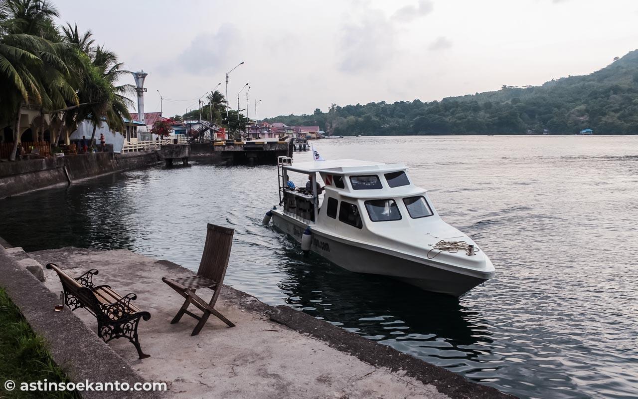 Kapal ini yang membawa kami dari Banda Neira ke Pulau Hatta pulang pergi