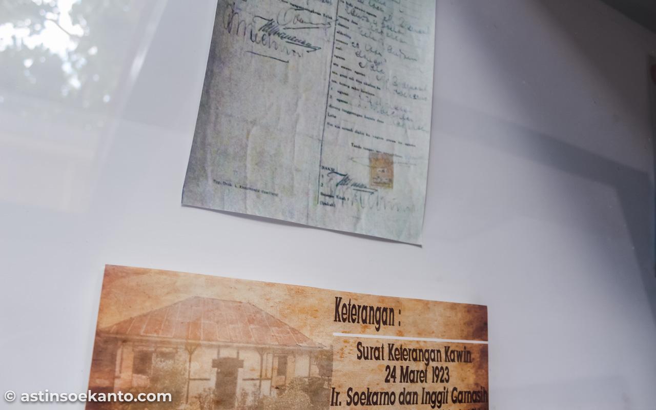 Surat Kawin Bung Karno dengan Bu Inggit, tertanggal 24 Maret 1923