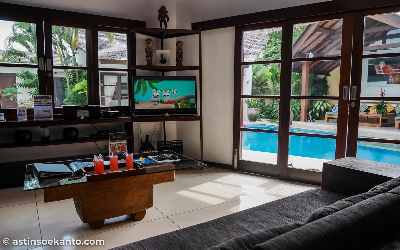 Living room dari Bangunan Utama Villa Origami