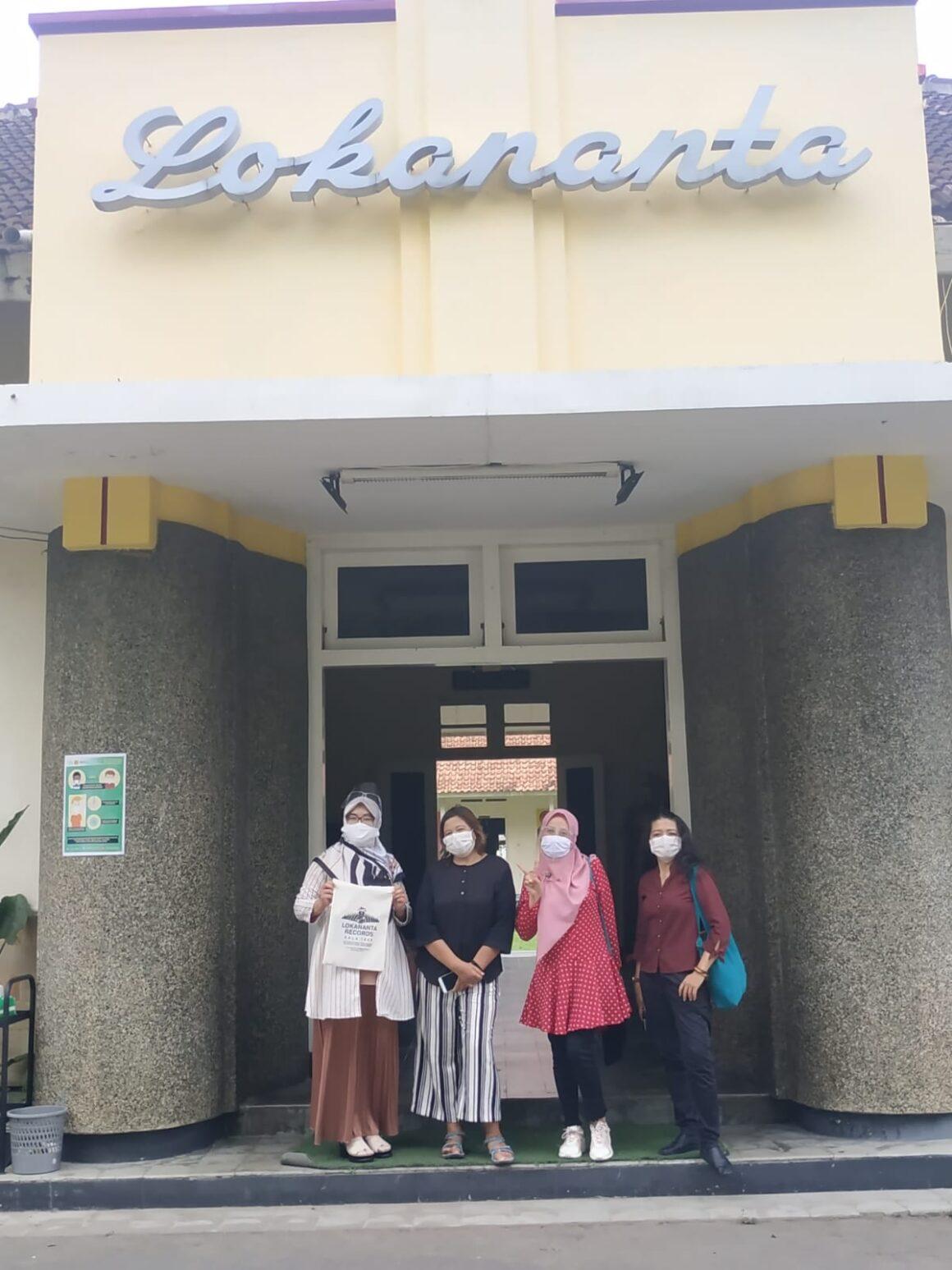 Team udinus di Museum Lokananta