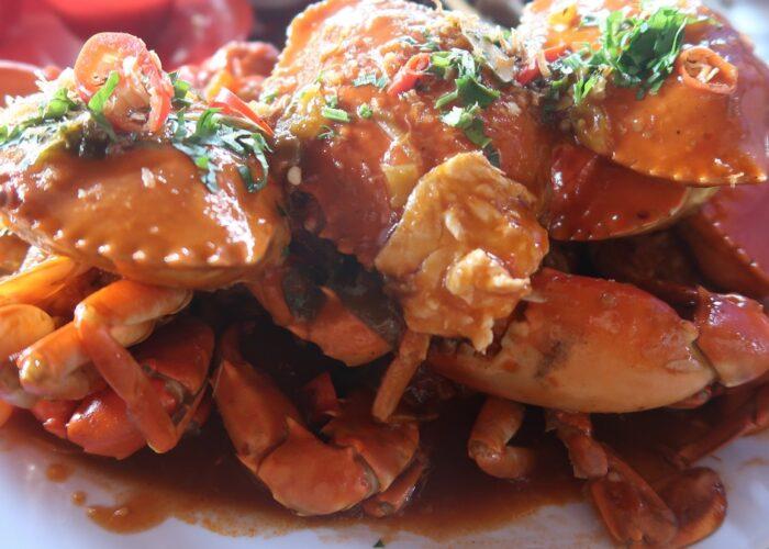 Kepiting saos padang dari pasar ikan Kedonganan